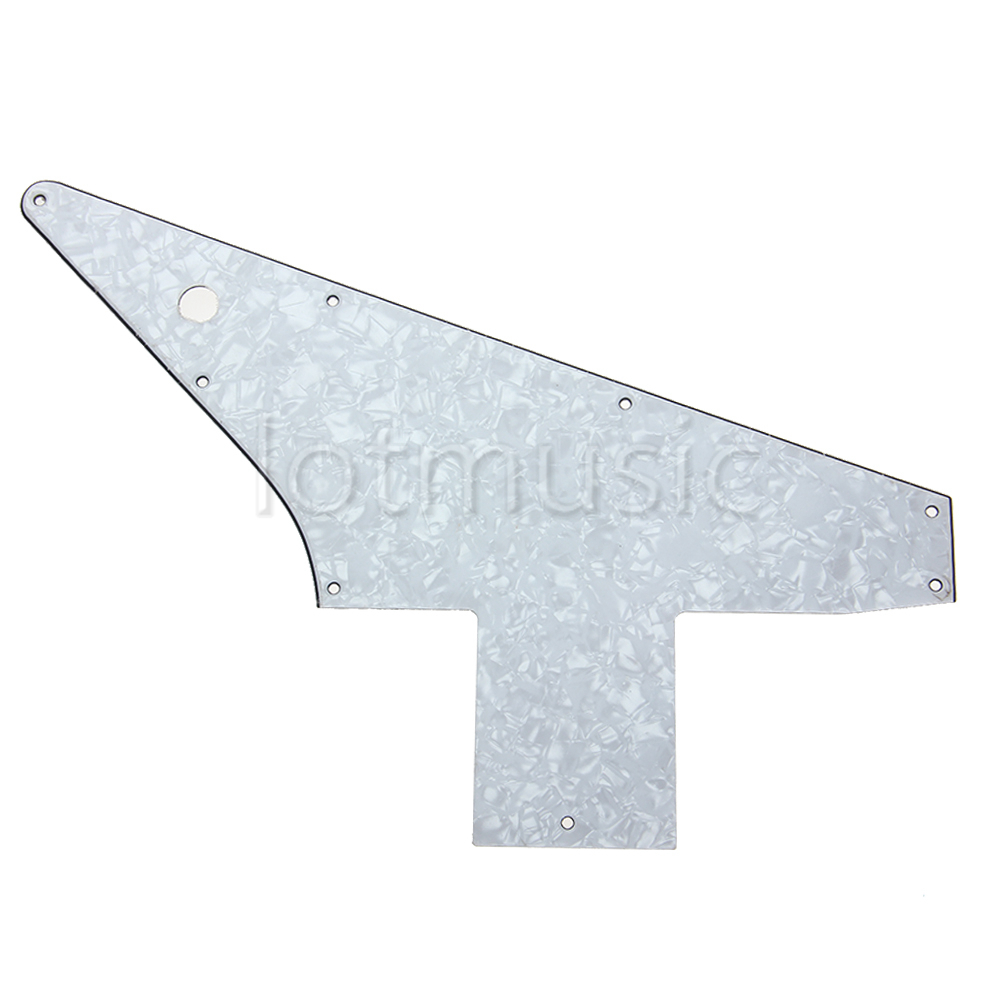 Electric Guitar Guitarra Pickguard Scratch Plate For Explorer 76 Reissue Style Parts Replacement 3Ply Pearl Black White