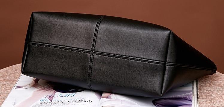 Bolsa de couro genuíno design de luxo