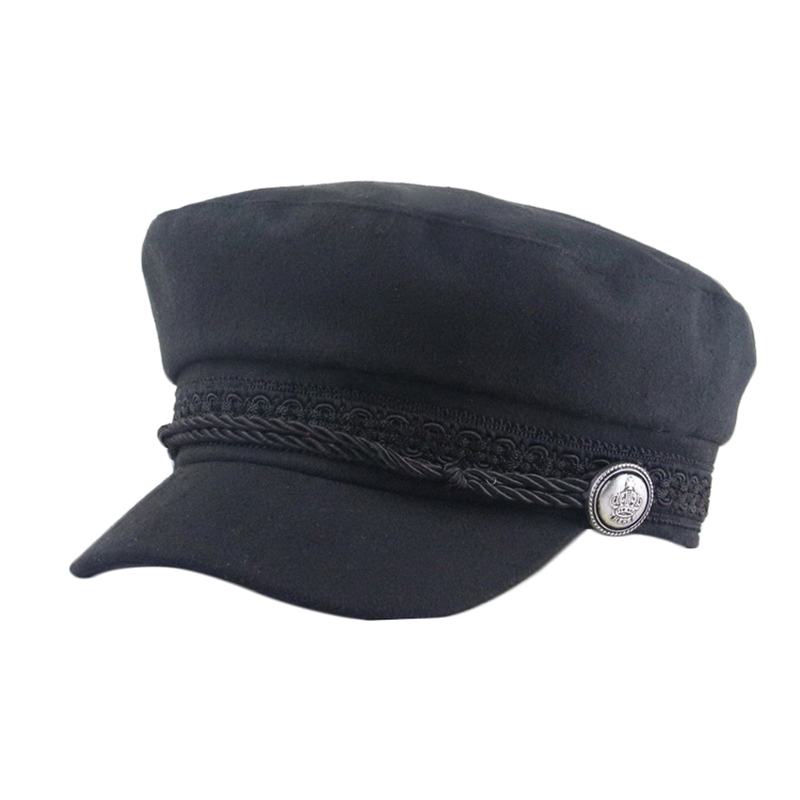 Women's Hats Berets Hats For Women Octagonal Cap Wool Button Baseball Caps Sun Visor Hat Female Streetwear Rope Flat Cap Gorras Apparel Accessories