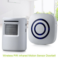 2016 New Wireless Doorbell PIR Infrared Motion Sensor Door Chime 38 Melody US Plug Set Office