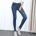 Famosa Marca Mujer Vaqueros Vintage Slim Fit Jeans de Algodón Mujeres Classic Fashion Designer Jeans Stretch Mujeres de Gran Tamaño 32-40