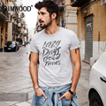 SIMWOOD 2017 New T Shits Men Shorts Sleeve  Spring Summer 100% Pure Cotton O neck Slim Fit  Letter Tees TD1140