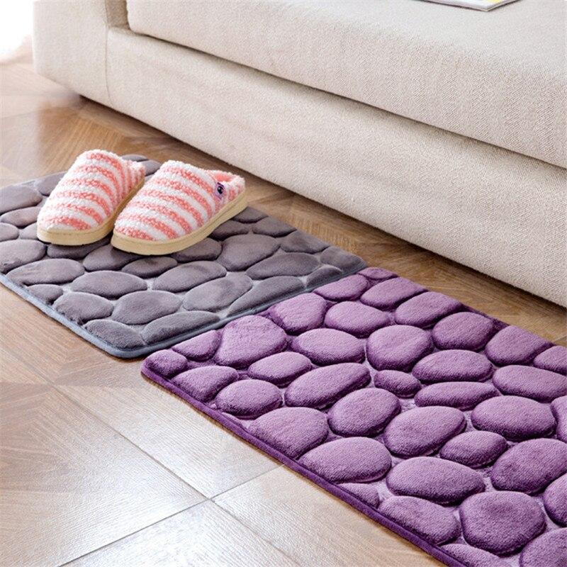 Simple Pebble carpet bedroom door mat doormat Kitchen Bathroom door absorbent mat Non-Slip Small Carpet Door Floor Mat Tapete