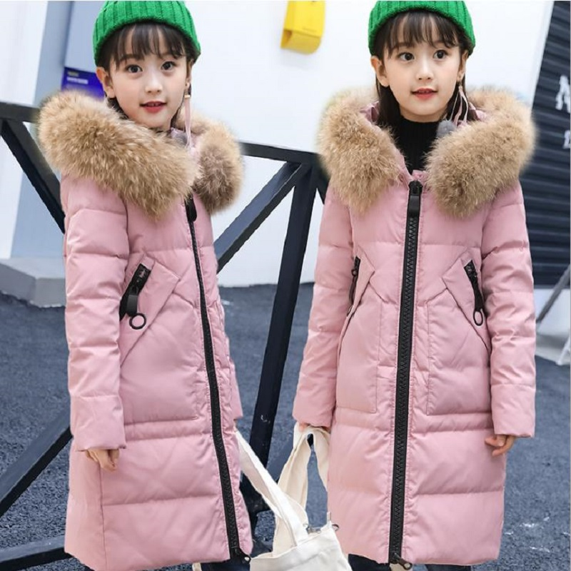 Fashion 100% White duck down2017 Girl's Down jackets/coats winter baby Coats thick duck Warm jacket Children  -30degree jackets fashion 2017 girl s down jackets winter russia baby coats thick duck warm jacket for girls boys children outerwears 30 degree