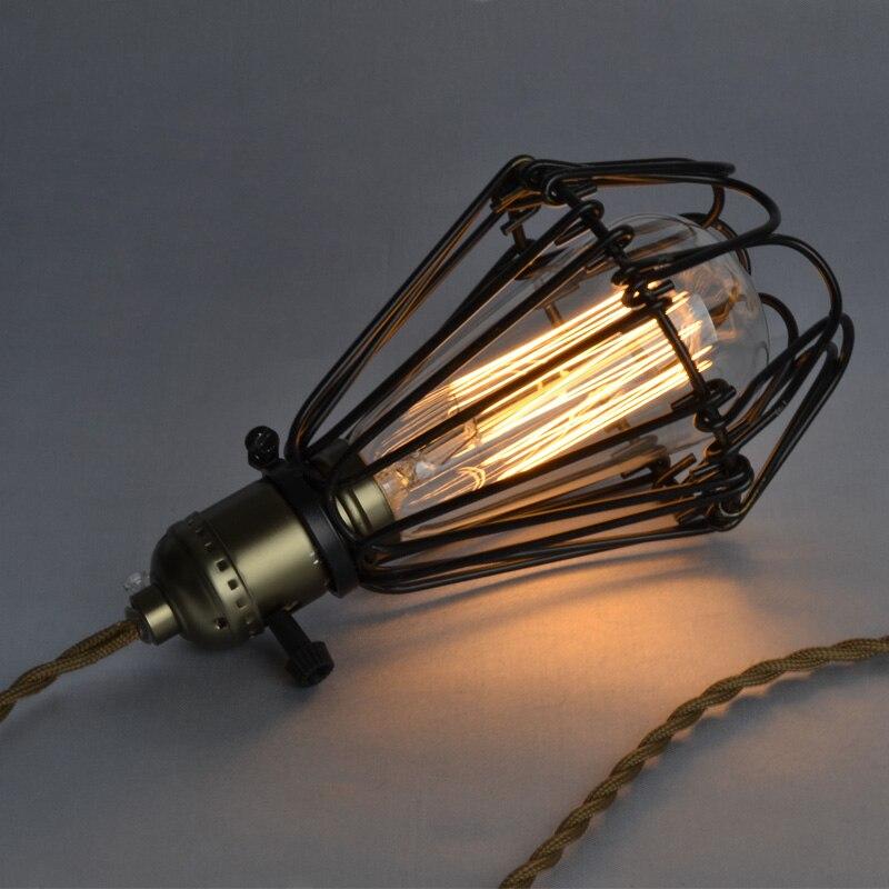 Dəmir qəfəs asqı İşıq + ST64 Edison ampüller Amerika ölkəsi - Daxili işıqlandırma - Fotoqrafiya 3