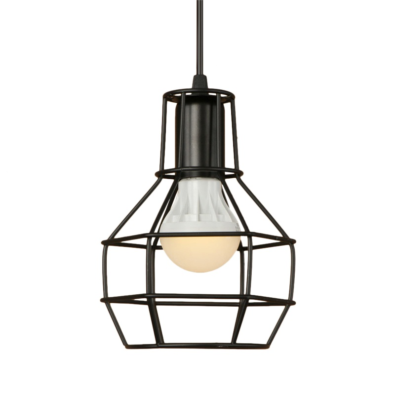 Loft Style Simple Iron Droplight Industrial Vintage LED Pendant Light Fixtures Dining Room Retro Hanging Lamp Indoor Lighting loft style iron vintage pendant light fixtures led industrial lamp dining room bar rectangle hanging droplight indoor lighting