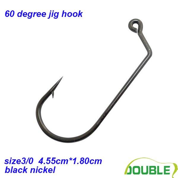 Size 3/0#*100pcs 32786 black nickel high quality jig hook fishing jig hook