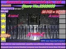 Aoweziic 2019 + 100% новый импортный оригинальный усилитель мощности с транзистором, от 1 до 5 лет, с 1: 5, 5, 5, 5, 5, 5, 5, 1, KTD1047, kttb817, 2SB817, 2SD1047, TO 247