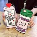 Alta qualidade new 3d garrafa de poção do amor pílulas frio tampa do telefone silicone case para iphone 6 s vi157 p45