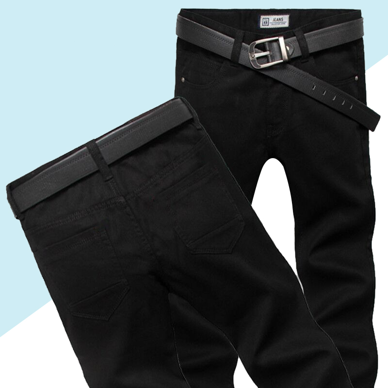 Brand Mens Jeans 2019 Fashion Casual Male Denim Pants Black Trousers Cotton Classic Straight Jeans High Quality