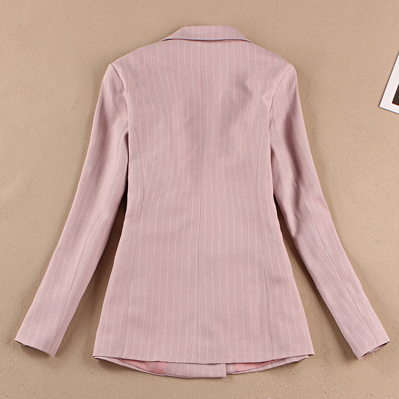 Women's Suits Summer New Korean Casual Slim Stripes Small Suit Jacket Fashion Half-Length Mini Skirt Two-Piece 2019