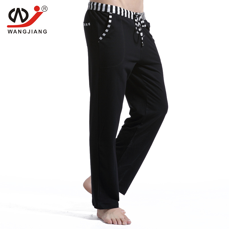 Sleepwear Male Soft Warm Cotton Pants Home Comfortable Sleep Long Bottoms Mens Sleep Shorts Elastic Waist Simple Style Casual