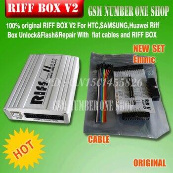 riff 100% original RIFF BOX JTAG For HTC,SAMSUNG,Huawei Riff Box Unlock&Flash&Repair With flat cables and RIFF BOX EMMC Adapter