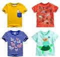 Бренд 2016 новых моде дети одежда 100% хлопок блузки детской одежды baby boy футболки мальчика топ ти мультфильм динозавр