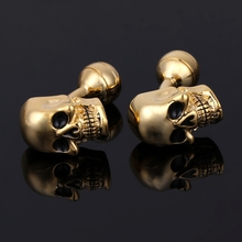 JAVRICK 1Pair Men's Punk Gothic Skull Head Skeleton Shirt Cu