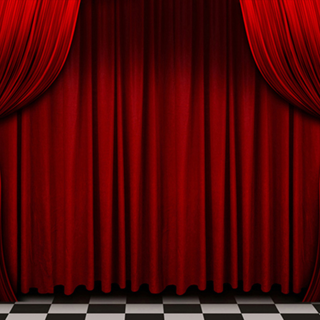 White Studio Background With Podium: Red Curtain White Black Floor Stage Photography Backdrops