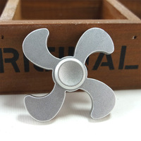 Wholesale 20Pcs Lot DHL Shipping Four Leave Fan Shape Styles 4 Colors Finger Spinner Adult Anti