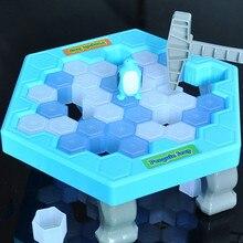 Горячая спасти пингвина Катание на коньках Дети головоломка настольная игра перерыва молоток для колки льда ловушка вечерние игрушки, игрушки для детей, взрослых 20