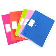 color Style Little A4 size PP File Folder Document Filing Bag Stationery Bag School Office Supply недорого