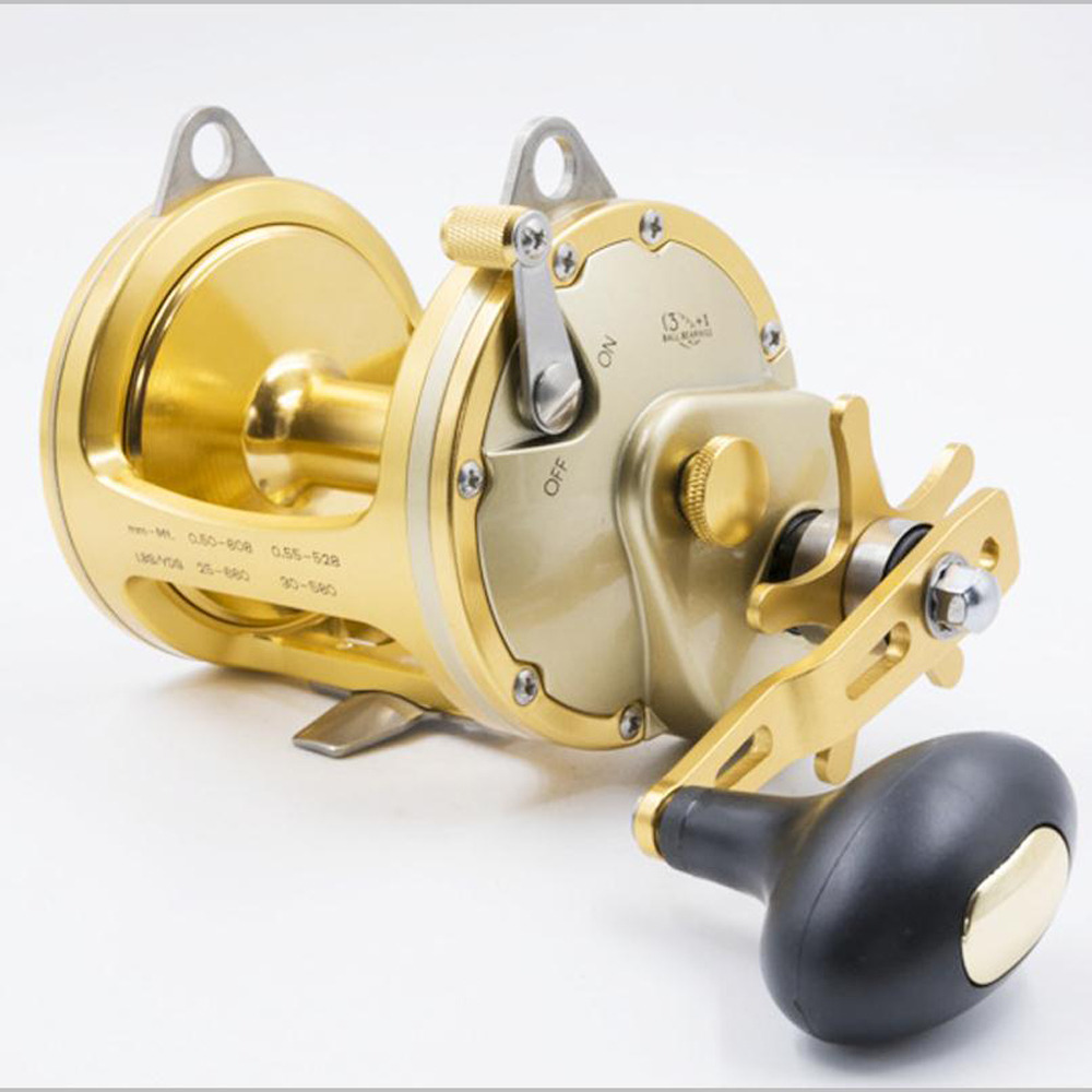 Singnol High-end Full Metal Gold ACT351 Drum Reels Casting Large Model Big Fish Trolling Wheel Deep Sea Iron Boat Fishing Reel цены