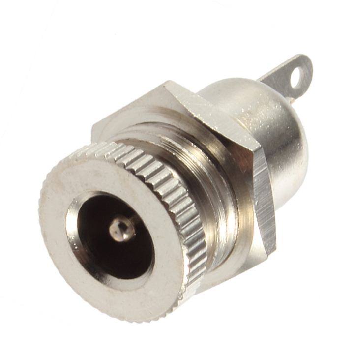 1Pc 5.5 mm x 2.1mm DC Power Jack Socket Female Panel Mount Connector C1Hot New Arrival