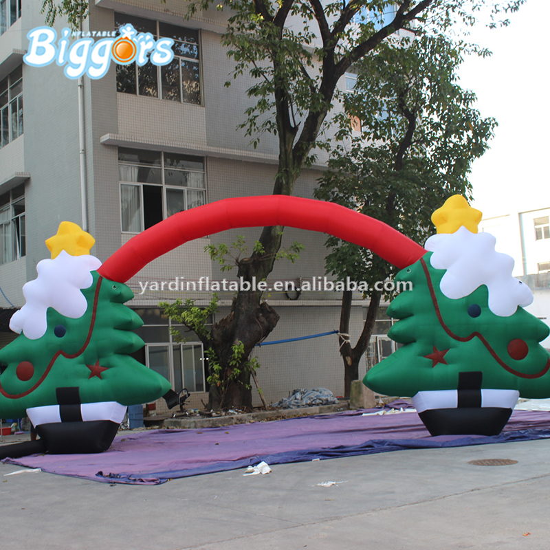Free Shipping Advertising For Decoration Holiday Inflatable Archway Inflatable Christmas Arch commercial sea inflatable blue water slide with pool and arch for kids