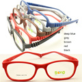 wholesales TR869 Kid colorful  top TR90 bendable safety comfortable plu adjustable strap durable optical frame free shipping