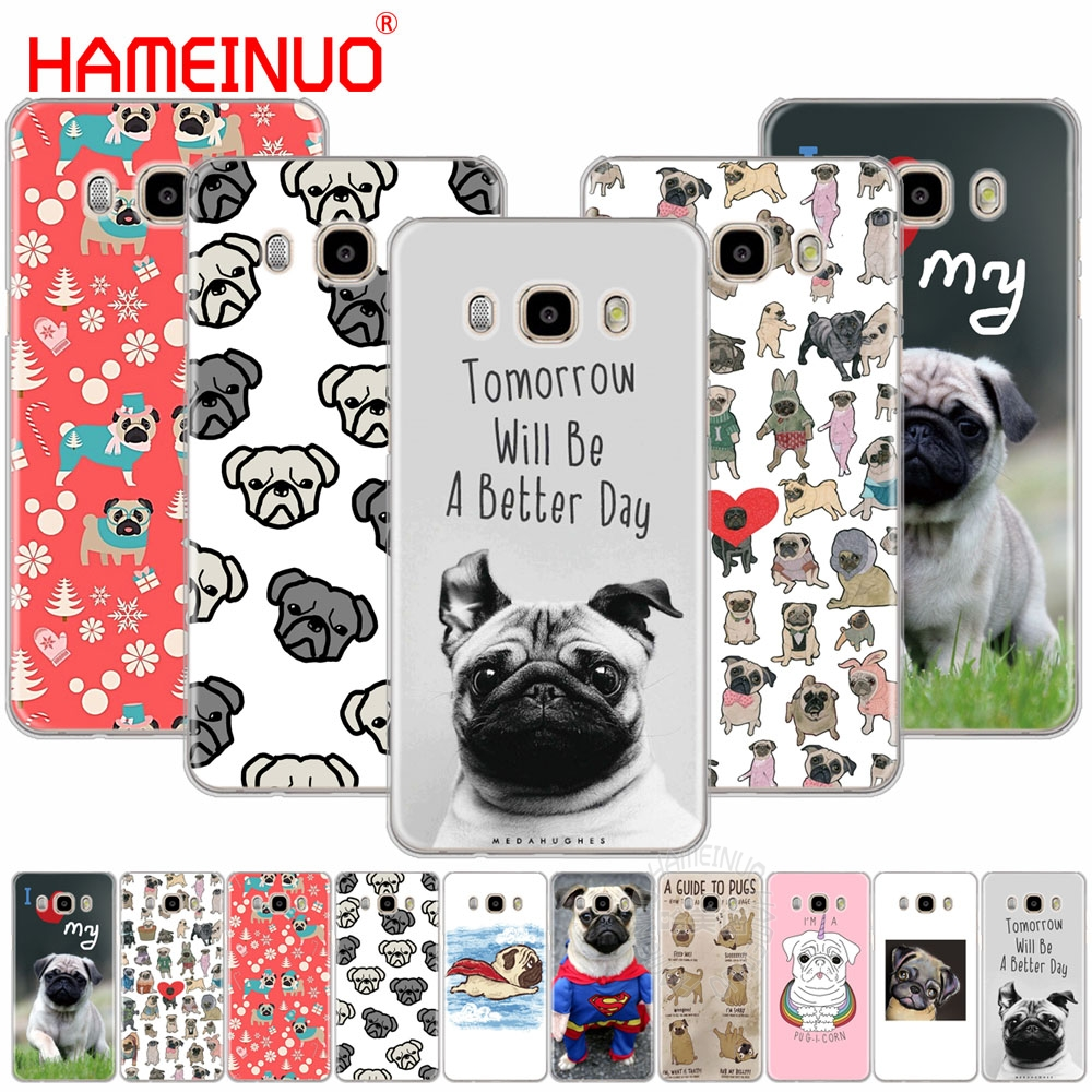 HAMEINUO Pug <font><b>dog</b></font> cute lovely funy cover phone <font><b>case</b></font> for <font><b>Samsung</b></font> Galaxy J1 J2 J3 J5 <font><b>J7</b></font> MINI ACE 2016 2015 prime image