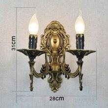 Легко чистить 2 ручки свечки железные настенные лампы винтажный настенный светильник для прихожей светодиодный светильник для столовой Настенный бра для ванной комнаты