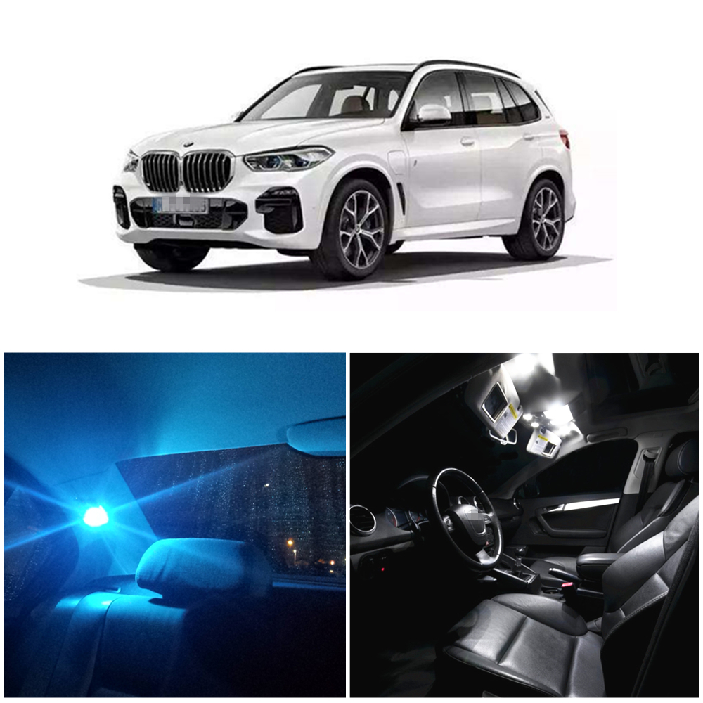 WLJH 19pieces Super Bright 2835 Chip Error Free Canbus Car LED Interior lighting Package Kit for BMW X5 E53 2000 2006