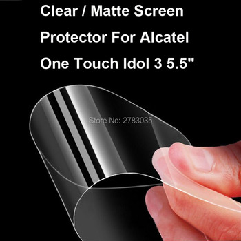 New HD Clear / Anti-Glare Matte Screen Protector For Alcatel One Touch Idol 3 5.5 6045Y Protective Film Guard W/ Cleaning Cloth image