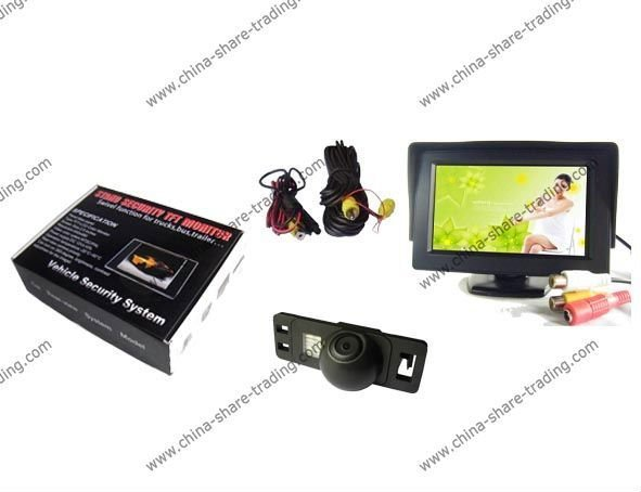 Free Shipping Rearview Camera for NISSAN QASHQAI / X-TRAIL Reverse Camera Kit 4.3 inch LCD TFT Rearview Monitor SS-620