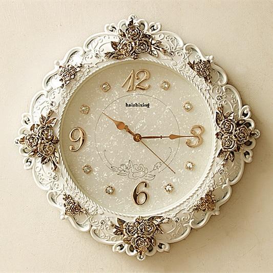 TUDA2017 Européenne salon horloge murale horloge de table Baroque ...