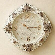 TUDA2017 European living room wall clock clock table Baroque retro decorative wall clock watch creative garden art