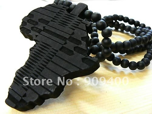 Online buy wholesale wooden africa jewelry from china wooden hip hop map of africa good wood pendant necklace colar goodwood jewelry 10pcslot free aloadofball Image collections