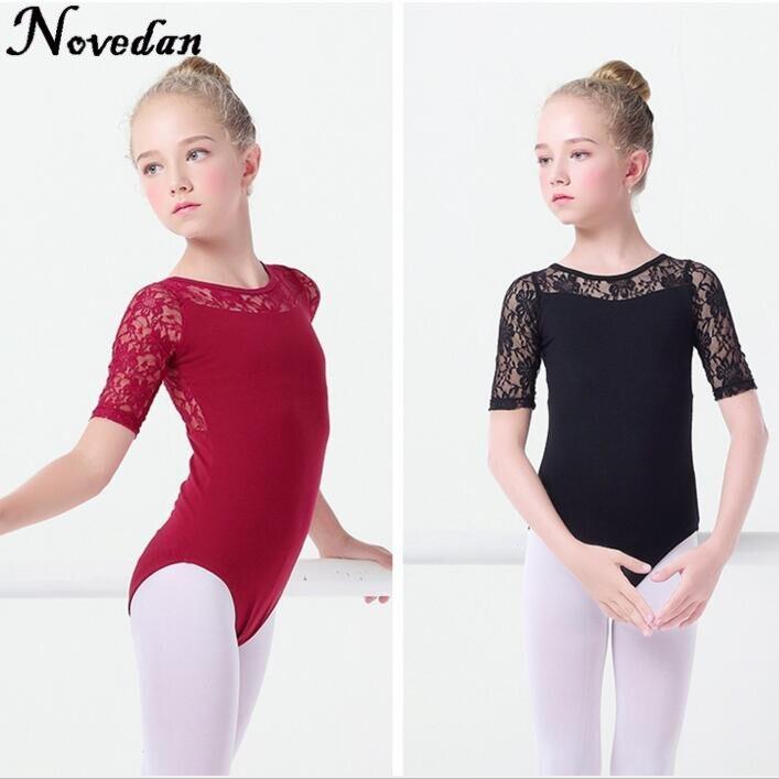 new-black-lace-mesh-font-b-ballet-b-font-leotards-girls-kids-short-long-sleeve-font-b-ballet-b-font-clothing-dancewear-children-gymnastics-leotards