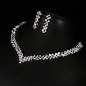 Image 4 - Emmaya New Zircon Crystal Rhinestone Stone Earrings Necklace Jewelry Set Wedding Party New Women Free Shipping