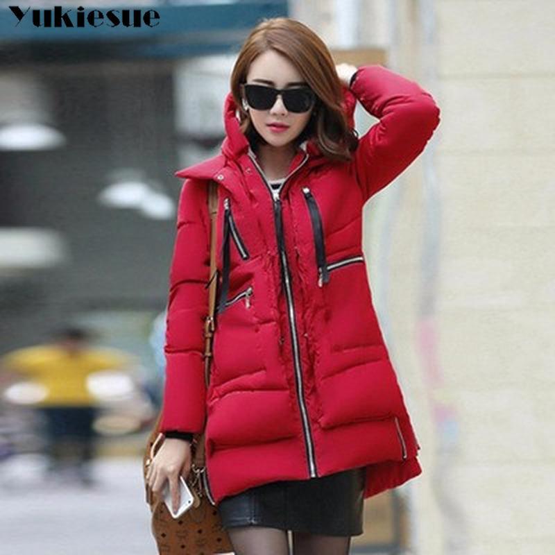 Winter jacket coat for women 2018 warm thick cotton padded long sleeve women's down   parka   female jackets   parkas   outwear coat