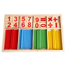 New 1Set Math Manipulatives Wooden Counting Sticks Baby Kids Preschool Educational Toys Gift