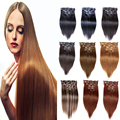 """African American Clip In Human Hair Extensions Clip In Brazilian Hair Extensions Human Hair Clip Ins 16""""-26"""" 8Pcs Cabelo Humano"""