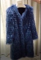 ZiZhen Winter Women's Real Fur Fashion New Raccoon Dog Fur Real Fur Coat Fur Strip Toghter 190112 2