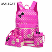 Banbuni Large Capacity School Bags For Girls Teenagers Schoolbag Kids Dot Printing School Backpack Set Rucksack