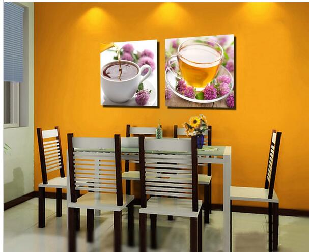 2016 Sale Quadros Oil Painting 2 Piece Canvas Wall Art For Dining Room Restaurant Decor