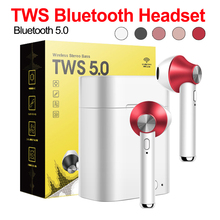Bluetooth Earphone V5.0 Stereo Wireless Earbuds mini In Ear Earbuds Dual calling Bluetooth Earphone With Charging Box цена 2017