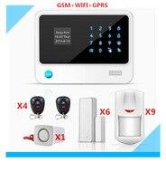 Бесплатная доставка DHL Wi Fi сигнал Системы gsm Умный дом сигнализации Системы с 5 видов Язык меню ЖК дисплей сенсорный дисплей панели