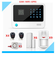DHL Free Shipping Wifi Alarm System GSM Smart Home Alarm system with 5 kinds of Language menu LCD display touch panel