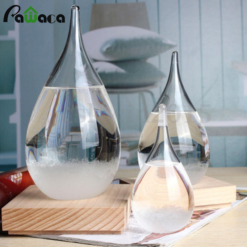 Creational escritorio Droplet Storm Glass Water Drop Weather Storm Forecast Predictor Monitors Bottle Barometer ornamentos manualidades regalo