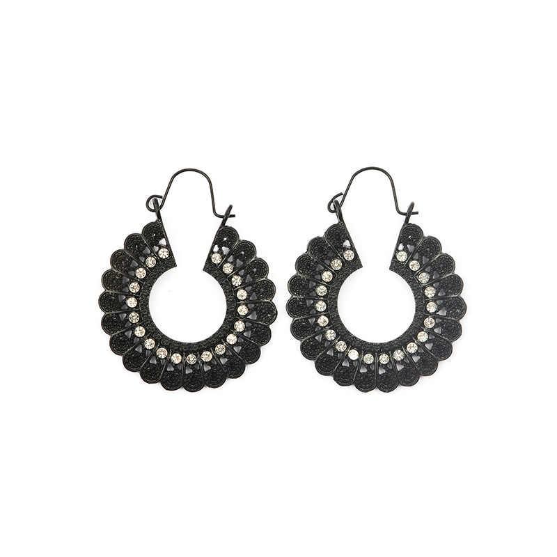 โบฮีเมียน Drop ต่างหูสำหรับผู้หญิง Brincos Vintage ต่างหูแฟชั่นเครื่องประดับเชือกสานคริสตัล Handmade ต่างหู Bijoux