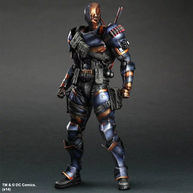 SQUARE ENIX Play Arts KAI DC Comics Batman: Arkham Origins Deathstroke  PVC Action Figure Collectible Model Toy 27cm KT2898 playarts kai batman arkham knight batman blue limited ver superhero pvc action figure collectible model boy s favorite toy 28cm