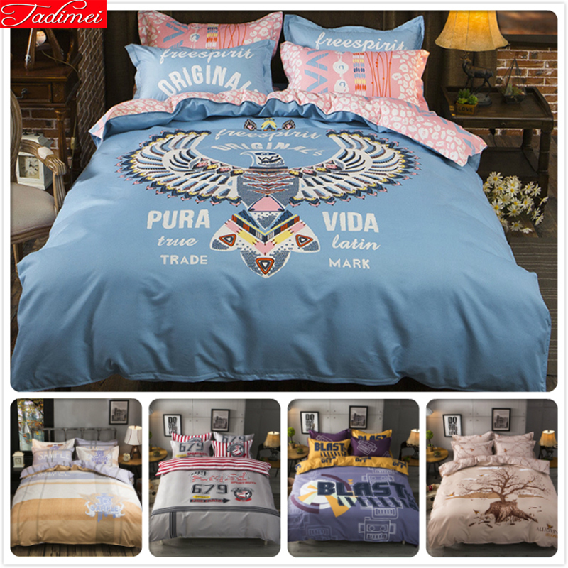 Power Source Pura Vida Eagle Animal Print Duvet Cover 1.5m 1.8m 2m Flat Sheet King Queen Double Size Bedlinens 3/4 Pcs Bed Linens Bedding Set With A Long Standing Reputation